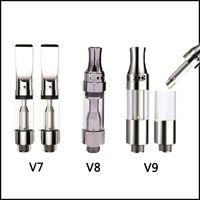 Wholesale Sample Atomizer - New Ceramic Atomizer 510 Pyrex Glass Cartridge Amigo Itsuwa Ceramic Coil Liberty V7 V8 V9 Sample Acceptable No Leaking Pen