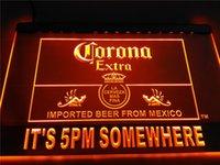 Wholesale Corona Neon - LA419- It's 5 pm Somewhere Corona Beer LED Neon Light Sign