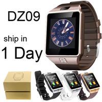 handy verloren alarm großhandel-Intelligente Uhren DZ09 mit HD-Anzeigen-Stützmusik-Spieler-Telefon, das sitzende Anzeige DHL-freies OTH110 nennt