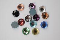 Wholesale Teardrop Rhinestones Nails - 2016hot 500pcs12mmRound Nail DIY Decoration Accessories Cell Phone Accessories Crystal Diamond Flat Glass Rhinestones Clothing Accessories