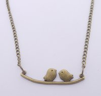 Wholesale Free Bird Necklace - FREE SHIPPING Hot Sale Alloy Retro Bird Necklace,N1806