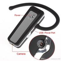 Wholesale Headset Camera Recorder - 1080P Spy Bluetooth Earphone Headset Camera Audio Video Recorder V22 Mini Hidden Spy Camera with Retail Box Dropshipping
