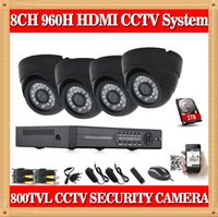 Wholesale Surveillance Dvr Kit Diy - CIA- DAVHUA OEM 8channel CCTV Security Camera System 8CH DVR 800TVL indoor Day Night IR Camera DIY Kit Video Surveillance System