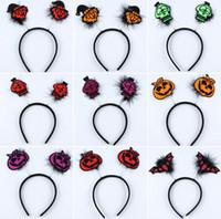 Wholesale eva hair wholesale online - Halloween headband masquerade party props decorative pumpkin vampire bat hair bands headband