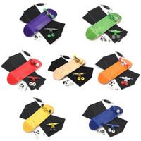 Wholesale Fingerboard Tape - Wooden Fingerboard Professional Finger SkateBoard Wood Basic Fingerboars With Bearings Wheel Foam Tape Set 7 Colours