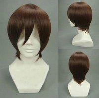 Wholesale Only God Know - Free Shipping Heat Resistant >>>The World God Only Knows Keima Katsuragi Fashion Short Dark Brown Cosplay Wig