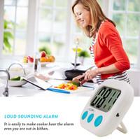 timers al por mayor-Nuevo Gran LCD Cocina Temporizador de Cocina Cuenta atrás Reloj Reloj de Alarma Fuerte temporizador de cuenta regresiva Magnética Envío gratis