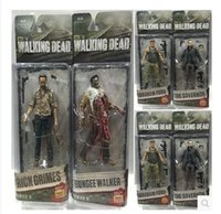 Wholesale The Walking Dead Action Figures inch Anime Movable Zombie Rick Philip PVC Collection Model Toys Kids Halloween Christmas Gifts