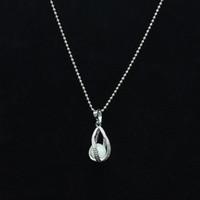 Wholesale Fluorescent Beads Bracelets - Can open the hollow screw water luminous Pendant Necklace American jewelry custom fluorescent luminous beads
