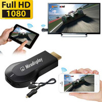 Wholesale Wifi Dongle For Ipad - 2.4G 1080P Miradisplay Wireless WIFI HDMI Airplay Mirror Dongle to TV For iPhone cell phone ipad pad Adroid IOS DLNA Display Chromecast