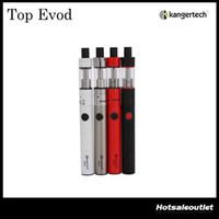 Wholesale Original Kanger Evod Starter Kit - Authentic Kanger Top Evod Kit 1.7ml Top Refilling Toptank Evod with 650mAh Evod Battery Starter Kit 100% Original DHL Free