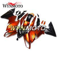 carenagem de motocicleta laranja preto venda por atacado-Carenagens Completas Para Kawasaki Ninja650r 09-11 2009 2010 2011 ABS Carenagem Motorcycle Fairing Kit Capuz Carroçaria Kit Corpo Laranja Preto Painéis