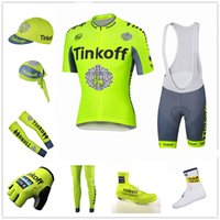 Wholesale Men S Scarf Set - Wholesale - team Tinkoff saxobank cycling jerseys short sleeve bib sets & arms & gloves & legs & caps & scarf & Shoes covers & cycling socks