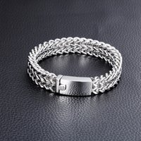Wholesale China Charms Suppliers - Fashion china supplier cool men stainless steel twist chains bracelet with clasps charm bracelet