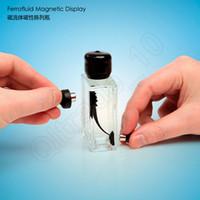 Wholesale Display Glass Bottle - LJJG335 New CreativeToys Magnetic Display Ferrofluid Liquid In Bottle Desktop Decor Novelty Magnetic Toys Free Shipping