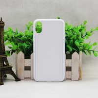 Wholesale Case Iphone Transfer - For Iphone X TPU +PC silicone Case DIY personalization sublimation blank products thermal transfer Clear Cases wholesale