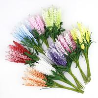 Wholesale Wholesale Decorations For Wreaths - Artificial Lavender flower Bouquet, Multicolor foam flowers for wedding wreath Scrapbooking decoration,100pcs lot