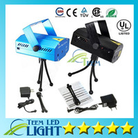 Wholesale Tripod Parties Light - DHL Free Shipping 150MW Mini Red & Green Moving Party Laser Stage Light laser DJ party light Twinkle 110-240V 50-60Hz With Tripod lights 12