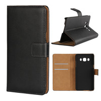 Wholesale Duos Wallet - For Galaxy J5 2016 Real Genuine Leather Case Credit Card Pocket Stand Holder Magnetic Cover For Samsung J510 Galaxy J5 Duos (2016)