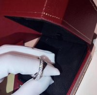 Wholesale Couples Heart Rings - Luxury brand C Designer 925 sterling silver Diamond rings WITH LOGO BOX Etincelle De style wedding Rings for Women Best quality with LOGO