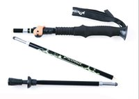 Wholesale Trek Grips - High Strength Aluminum Alloy Walking Alpenstocks Climbing Staff Folding Nordic Hiking Sticks Ultra-light Adjustable Cane trekking pole SC065
