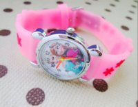 Wholesale Anna Limited - 2016 Infantil Reloj Snow Queen Princess elsa anna Cartoon Watch 3D Children Kids Quartz Wristwatches Clock
