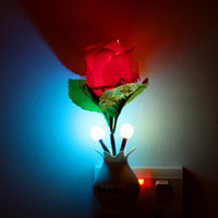 Wholesale Halogen Sensor Light - LIXADA Romantic 1200 LM Light Sensor Mushroom Flower Potted Night Lamp Home Illumination Energy Saving Color Change Bed Decor