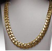 "Wholesale 14k Grams - 14K Gold Miami Men's Cuban Curb Link Chain Necklace 24"" Heavy 267.2 Grams 12mm"