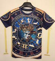 Wholesale Funny Retro Shirts - tshirt Fashion 3D t-shirt men's T-shirt retro Funny Printed Zodiac Constellation Tshirt for men M L XL XXL MDT98