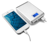 Wholesale new display for mobile phone - New Portable Double USB Power Bank 12000mAh LCD Display External Backup Battery for iPhone huawei xiaomi mobile Phone Universal Charger