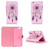 Wholesale Case Iphone 4s Dog - Don't Touch My Phone Snow Mountains Card Flower Skull Dreamcatcher Lover Pug Dog Wallet Leather For Iphone 6 6S Plus 4 4S 5 5S SE 5C Pouch