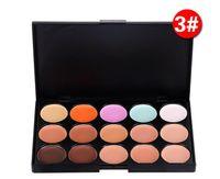 Wholesale Salon Makeup Box - Professional 15 Colors Concealer Foundation Contour Face Cream Makeup Palette Pro Tool with retail box for Salon Party Wedding Daily 0605056