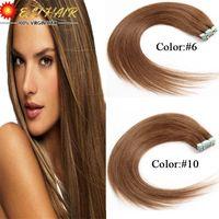 "Wholesale Hair Bond Tape - Wholesale-16""18""20""22""24""7A Real Brazilain 100% Tape Virgin Human Hair Extensions Black Blonde Brown Human Hair"