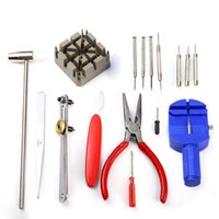 Wholesale High Quality Cell Repair Tools - High Quality New Universal 16PCS Set Watch Clock Opener Tool Kit Watch Repair Tool Cell Pin Remover Fixed Tools Watchmaker Modulation meter