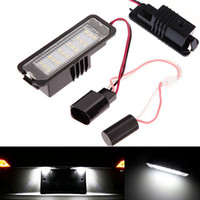 Wholesale Vw Plate Light - 2X 18 LED Error Free Auto light Number License Plate Light Bulbs Tail Light Fit For VW GTI Golf 4 5 6 Passat Scirocco MK4 5 6