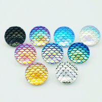 Wholesale Colorful Buttons For Sale - Hot sale NS0114 Beauty Charm Round Colorful Fish scales 18MM snap buttons for DIY ginger snap Jewelry Accessories charm wholesale
