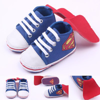 Wholesale Toddler Canvas Shoes Sale - Hot Sale Baby Boys Shoes Canvas Lace-Up Ankle Baby shoes First walker Toddler Blue 0-18 Months
