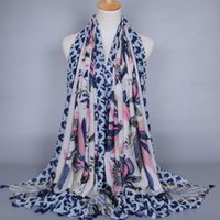 spanish style shawls - New designer spanish style colorful versatile beautiful peacock printing women shawls and scarf soft wraps
