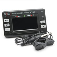 Wholesale Clip Instrument Tuners - 3 in 1 Metro-tuner Metronome Tuner Musical Instrument MT-40 Tone Generator for Guitar, Bass, Violin and Ukelele