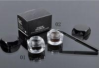 Wholesale Fluidline Eyeliner Gel - New Makeup Eyes Eyeliner 5.5g M Fluidline Eye Liner Gel Brush Long Wear Eyes Make Up Waterproof Cosmetics ! Black Brown Color