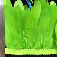 laranja penas ganso venda por atacado-Feather Goose Corte Franjas penas 2meters / lot Branco Hot Pink Light Orange Rosa Roxo Azul Royal Turquesa Preto Vermelho Amarelo Verde limão