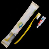 Wholesale Travel Toothbrushes Toothpaste - Guest House Hotel Supplies Disposable Toothbrushes With Toothpaste Hotel Wash Kit Travel Supply Plastic Wrapped Per Pack