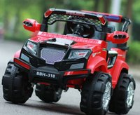 Wholesale Remote Control Kid Ride Car - cross-country shockproof remote control four wheel two seats CCC certificate Electric ride on car for kids