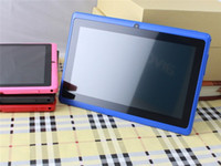 Wholesale android tablet g - Q88 Tablets Quad Core 7inch AllWinner A33 Android 4.4 512MB RAM 4GB ROM WIFI Tablet PCs