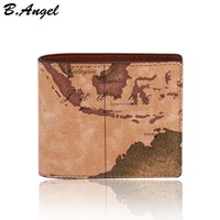 Wholesale World Interiors - 2016 stars war message fashion vintage world map men wallets purses designer wallets famous brand in PVC