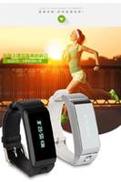 Wholesale Wrist Bluetooth Headset - New 2016 Original TalkBand K2 Smart Bracelet Wristband Bluetooth Dual-mode Sleep Monitor Smartwatch Band Phone Mate With Headset