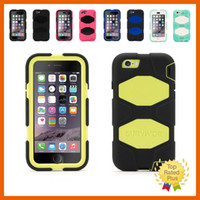 Wholesale Metal Belt Clips For Leather - Silicone Soft Defender Case + Belt Clip 3 in 1 Shockproof Cellphone Protective Cover for iPhone 5 5s 6 6s Plus