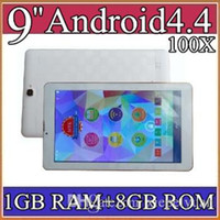 "Wholesale Bluetooth Otg - 100X 9"" 3G tablet pc MTK6572 Dual Core phone call 1.3Ghz android 4.4 phablet GPS bluetooth OTG Wifi 1GB 8GB ROM Dual Camera Flash 5-9PB"