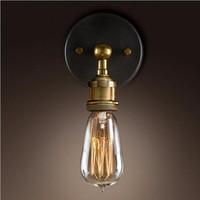 Wholesale remote control lamp holder - Loft Vintage led wall lighting industrial E27 wall sconces edison lamp holder vanity lights light fixture