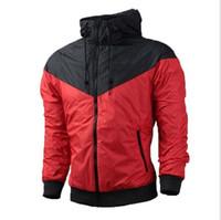 Wholesale Waterproof Coats Plus Size Women - Fall thin windrunner Men Women sportswear high quality waterproof fabric Men sports jacket Fashion zipper hoodie coat plus size 3XL